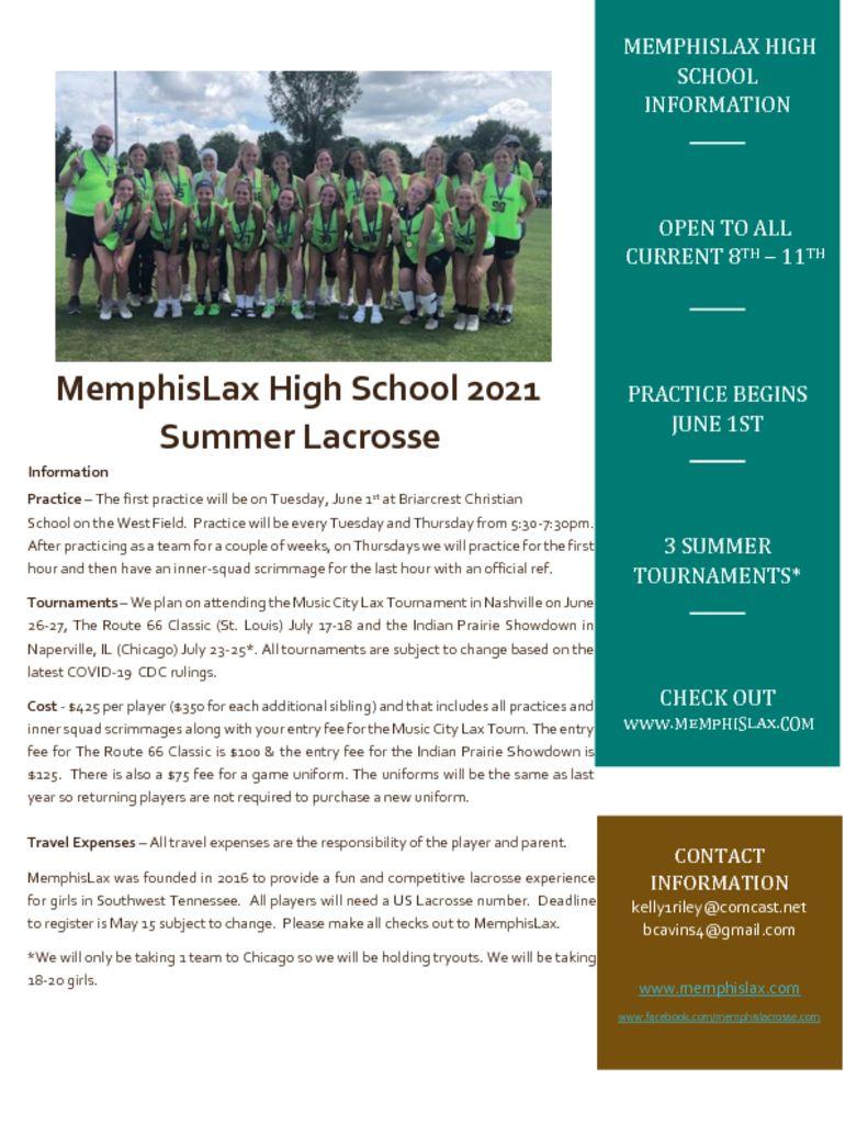 thumbnail of MemphisLax High School 2021 Flier (2)